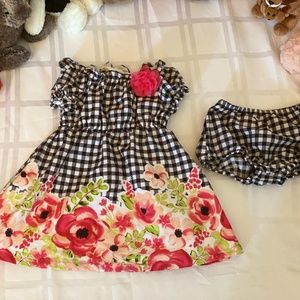 Penelope Mack Floral Baby Dress with Bloomers